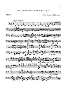 Concerto for Piano and Orchestra No.3 in E Flat Major, TH 65 Op.75: Parte Violoncelo by Pyotr Tchaikovsky