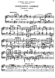 Impromptu-Caprice, TH 144: Para Piano by Pyotr Tchaikovsky