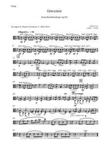 No.9 Orientale: For oboe, violin, viola and cello - viola part by César Cui