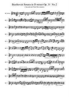 Sonata for Piano No.17 'Tempest', Op.31 No.2: para clarinete by Ludwig van Beethoven