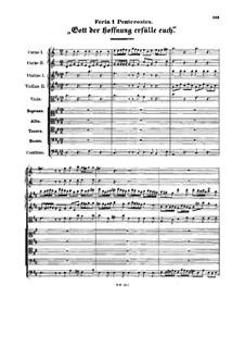 Cantata 'Gott der Hoffnung erfülle euch': Cantata 'Gott der Hoffnung erfülle euch' by Georg Philipp Telemann