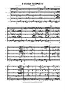 Summer Sun Dance (Brass Quintet): Summer Sun Dance (Brass Quintet) by Thomas Hans Graf