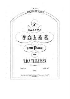 Grand Waltz No.5, Op.30 No.1: Grand Waltz No.5 by Thomas Tellefsen