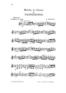 Fragments: Marche and Chorus, for violin (or mandolin) by Richard Wagner