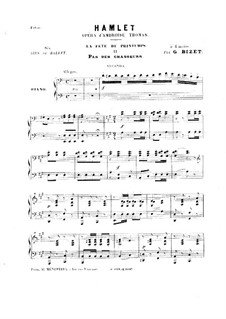 Hamlet: La fête du printemps. No.2 Pas des Chasseurs, for Piano Four Hands by Ambroise Thomas