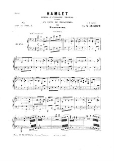 Hamlet: La fête du printemps. No.3 Pantomime, for Piano Four Hands by Ambroise Thomas