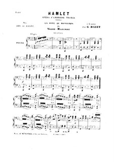 Hamlet: La fête du printemps. No.4 Valse-Mazurka, for Piano Four Hands by Ambroise Thomas