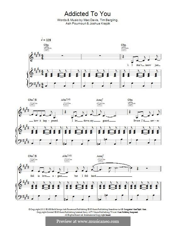 Addicted to You: Para vocais e piano (ou Guitarra) by Avicii, Arash Andreas Pournouri, Joshua Krajcik, Mac Davis