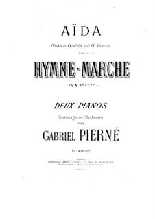 Hymn, March and Dance: para dois pianos de quatro mãos - piano parte I by Giuseppe Verdi