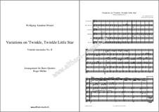 Twelve Variations on 'Ah vous dirais-je, Maman', K.265/300e: For wind quintet by Wolfgang Amadeus Mozart