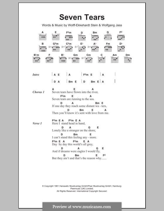 Seven Tears (Goombay Dance Band): Letras e Acordes by Wolff-Ekkehardt Stein, Wolfgang Jass