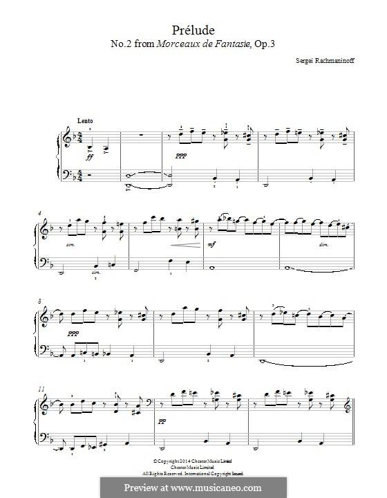No.2 Prélude: Facil para o piano by Sergei Rachmaninoff