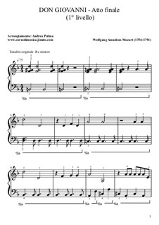 Fragments: Final act. Version for piano by Wolfgang Amadeus Mozart