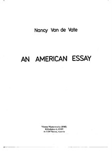 An American Essay: Orchestral version - score by Nancy Van de Vate