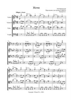 No.8 August (The Harvest): para quartetos de cordas by Pyotr Tchaikovsky