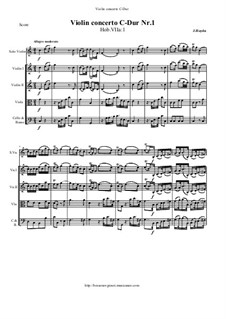 Concerto for Violin and Orchestra No.1 in C Major, Hob.VIIa/1: Score and all parts by Joseph Haydn