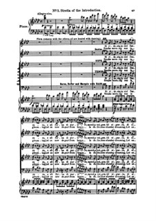Fragments: Act I No.5 Si ridesta in ciel l'aurora, for soloists, choir and piano by Giuseppe Verdi