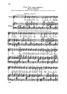Fragments: Act II No.12 Noi siamo zingarelle, for soloists, choir and piano by Giuseppe Verdi