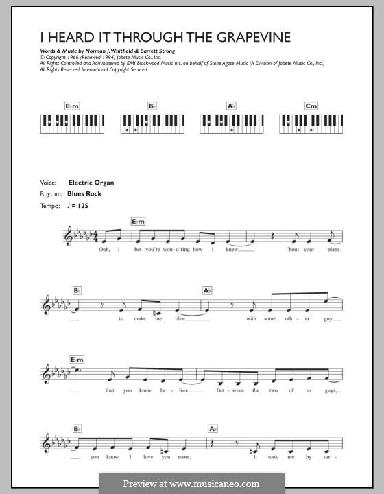 I Heard it Through the Grapevine: para teclado by Barrett Strong, Norman J. Whitfield