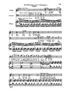 Fragments: Act III No.19 Prendi, quest' è l'immagine, for voices and piano by Giuseppe Verdi
