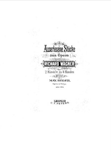 Fragments: Introduction to Act I, for two pianos four hands by Richard Wagner