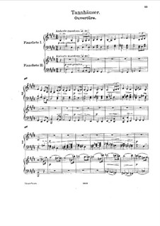 Fragments: Overture, for two pianos four hands by Richard Wagner
