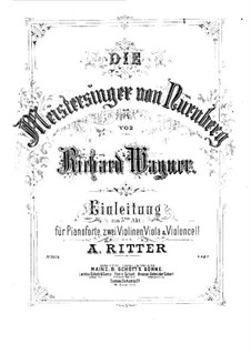 Fragments: Introduction to Act III, for piano and strings by Richard Wagner