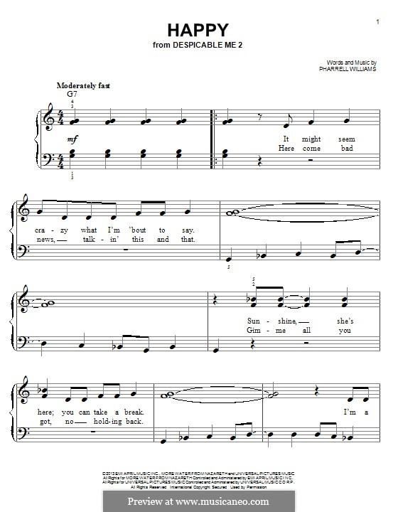 Happy: Para Piano by Pharrell Williams