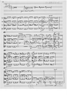 Epigram for Mixed Choir a cappella: Epigram for Mixed Choir a cappella by Ernst Levy