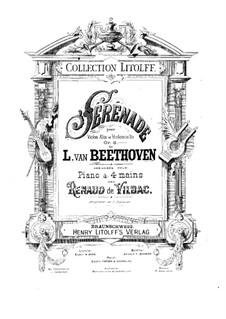 String Trio No.2 in D Major 'Serenade', Op.8: versão para piano de quatro mãos by Ludwig van Beethoven