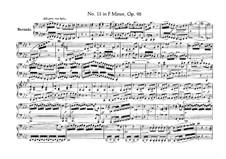String Quartet No.11 in F Minor 'Serioso', Op.95: versão para piano de quatro mãos by Ludwig van Beethoven