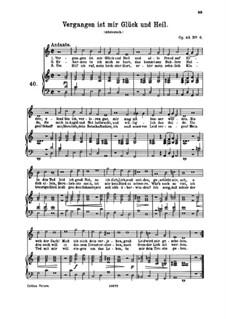 Seven Songs, Op.48: No.6 Vergangen ist mir Glück und Heil (Past Is My Luck and Well-Being) by Johannes Brahms