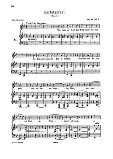 Seven Songs, Op.48: No.7 Herbstgefühl (Autumn Mood) by Johannes Brahms