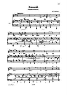 No.3 Longing: No.3 Longing by Johannes Brahms