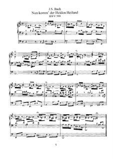 Preludes No.1-44, BWV 599-644: para orgãos by Johann Sebastian Bach