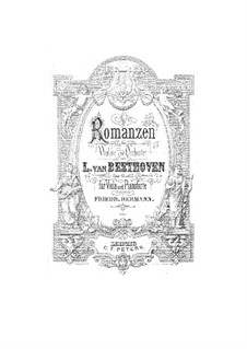 Romance for Violin and Orchestra No.1 in G Major, Op.40: Version para viola e piano by Ludwig van Beethoven