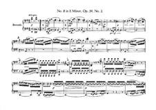 String Quartet No.8 in E Minor 'Rasumowsky-Quartet', Op.59 No.2: versão para piano de quatro mãos by Ludwig van Beethoven