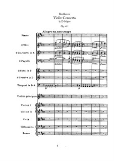 Concerto for Violin and Orchestra in D Major, Op.61: Allegro ma non troppo by Ludwig van Beethoven