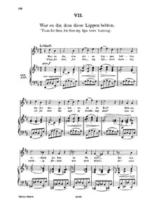 Fifteen Romances, Op.33: No.7 Was it You, for Whom These Lips Trembled by Johannes Brahms