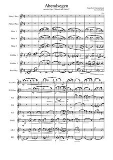 Hansel and Gretel: Abendsegen, für Flötenoktett by Engelbert Humperdinck