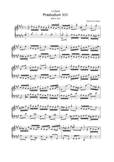 Prelude and Fugue No.14 in F Sharp Minor, BWV 859: For keyboard (editor Pavel Popov, 2013) by Johann Sebastian Bach