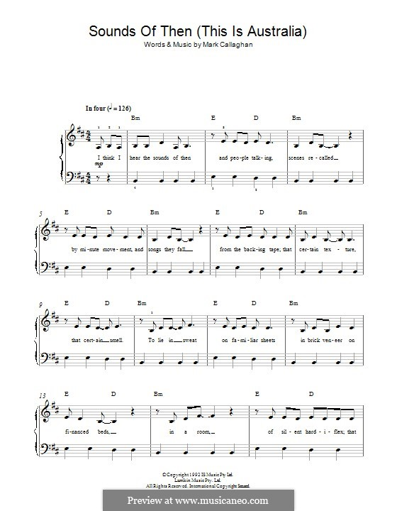 Sounds of Then (This Is Australia): For piano (Ganggajang) by Mark Callaghan