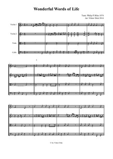 Wonderful Words of Life: para quartetos de cordas by Philip Paul Bliss