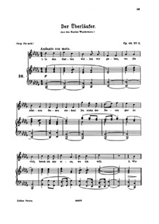 Seven Songs, Op.48: No.2 Der Überläufer (The Renegade) by Johannes Brahms