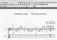 Autumn song: Autumn song by Sergei Orekhov