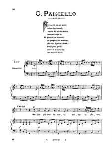 Nel cor più non mi sento, R 1.76: Medium voice in F Major by Giovanni Paisiello