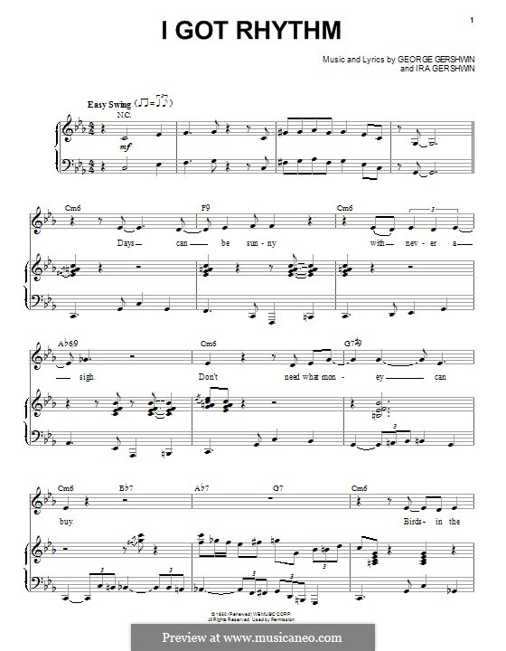 I Got Rhythm: For voice and piano (Nikki Yankofsky) by George Gershwin