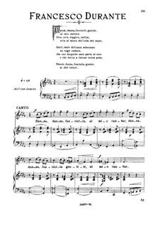 Danza danza fanciulla gentile: Medium voice in B Flat Minor by Francesco Durante