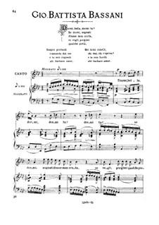 Dormi, bella, dormi tu: Medium voice in A Flat Major by Giovanni Battista Bassani