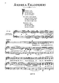 Vezzosette e caro pupillette: Medium low voice in E Major by Andrea Falconieri